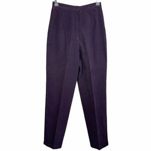V Vintage Pants High Waisted Dark Purple Mom Pant
